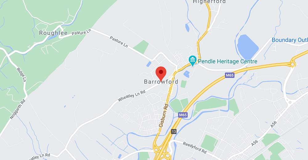 Coverage Map For Aerial Installer in Barrowford